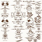 foto of flourish  - Vector set of flourishes for design - JPG