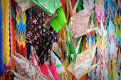Assorted Colorful Paper Cranes