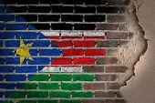 Dark Brick Wall With Plaster - South Sudan