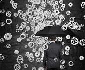 Businessman With Umbrella