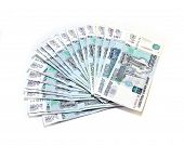 Many Russian Rubles Banknotes