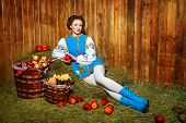 picture of national costume  - The girl in national costume in Eastern Europe - JPG