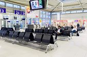LEIPZIG, GERMANY - SEP 11: Airport interior on September 11, 2014. Leipzig Airport is an international airport located in Schkeuditz, Saxony and serves both Leipzig, Saxony and Halle, Saxony-Anhalt.