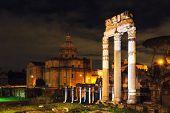 Forum Of Caesar At Night