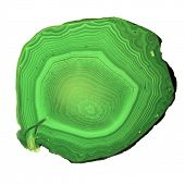 pic of agate  - green agate isolated on white background - JPG