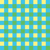 Bold bright yellow, green and blue seamless checkered background