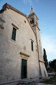 DOBROTA, MONTENEGRO - JUNE 09, 2012: The Catholic Church Saint Eustache in Dobrota, Montenegro, on June 09, 2012