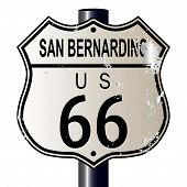 San Bernardino Route 66 Highway Sign