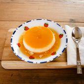 Custard Topping With Caramel Sauce