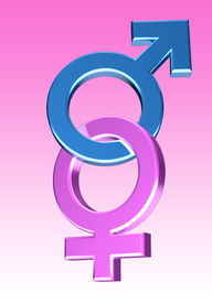 stock photo of male female  - Blue and pink Male - JPG