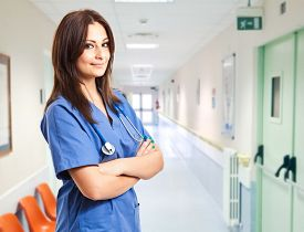stock photo of nursing  - Beautiful nurse portrait  - JPG