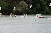 Start Of Boats With Two Rowers.