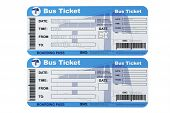 picture of bus driver  - Bus boarding pass tickets on a white background - JPG