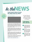 image of newsletter  - In the news page layout newsletter for use with business or nonprofit - JPG