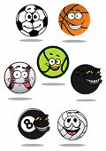 pic of bowling ball  - Balls cartoon characters with soccer - JPG