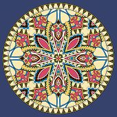 stock photo of dirty  - decorative design of circle dish template - JPG