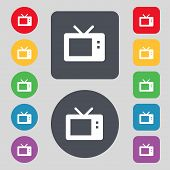 pic of tv sets  - Retro TV mode icon sign - JPG