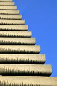 stock photo of william shakespeare  - Abstract detail of the balconies from The Shakespeare Tower at the Barbican Estate which was opened in 1969 - JPG