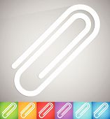 Постер, плакат: Paper Clip Clip Icon Element Vector Illustration