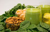 pic of roughage  - Green smoothies with spinach - JPG