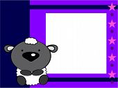 image of baby sheep  - cute baby sheep picture frame in vector format very easy toedit - JPG