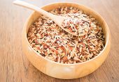 picture of whole-grain  - Multi whole grain of organic jasmine rice - JPG