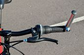 pic of suspension  - Close up of Modern Red Full Suspension Mountain Bike MTB Bicycle - JPG