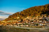 stock photo of albania  - Historic city of Berat in Albania, World Heritage Site by UNESCO