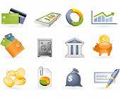 Bank- en Financiewezen icon set