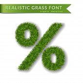Green Grass Percent poster