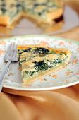 Mangold, Lauch und Blu Käse Torte