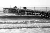 A Big Day In Black And White At The San Clemente Pier