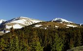 pic of colorado high country  - Summer snow in the High Country above timberline - JPG