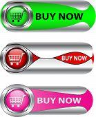 Metallic Buy Now Button Set