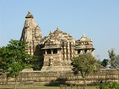 Ancient Hindu Temple At Khajuraho, India