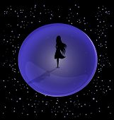 foto of loveless  - in the vast space is a lone female figure - JPG