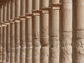 Ancient Columns Close Up, Great Colonnade, Palmyra, Syria poster