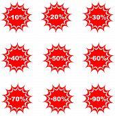 Sale Percent Button Web Glossy Icon