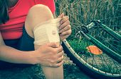 Woman Has Accident Injury From Bicycle poster