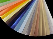 multicolored Venetian blinds color chart