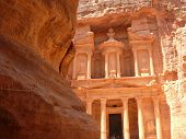 Treasury, Al-Khazneh, View From The Siq, Petra, Jordan