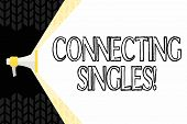Text Sign Showing Connecting Singles. Conceptual Photo Online Dating Site For Singles With No Hidden poster