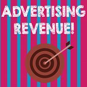 Word Writing Text Advertising Revenue. Business Concept For Money Media Earn From Selling Advertisin poster