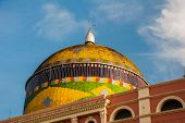 Stunning Colorful Manaus Opera House, Famous One Day Excursions. One Most Beautiful Building With A  poster