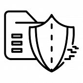 Cyber Attack On Firewall Icon. Outline Cyber Attack On Firewall Vector Icon For Web Design Isolated  poster