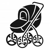 Stroller With Large Wheels Icon. Simple Illustration Of Stroller With Large Wheels Icon For Web Desi poster