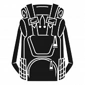 Large Tourist Backpack Icon. Simple Illustration Of Large Tourist Backpack Icon For Web Design Isola poster