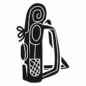 Large Tourist Backpack Side Icon. Simple Illustration Of Large Tourist Backpack Side Icon For Web De poster