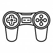 Video Game Joystick Icon. Outline Video Game Joystick Icon For Web Design Isolated On White Backgrou poster