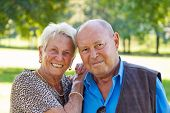 mature senior couple in love. portrait of couple